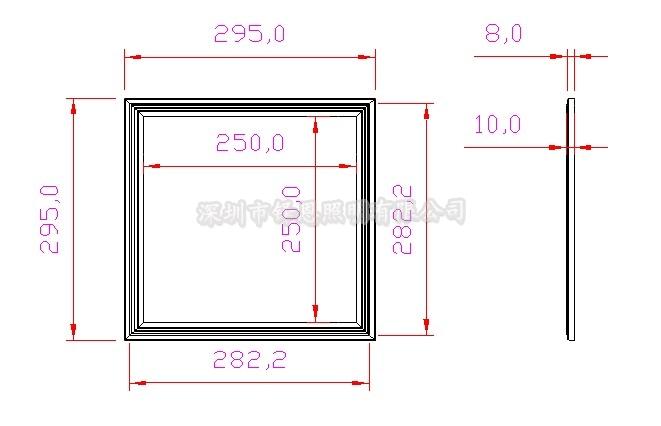 超薄方形led平板灯电路连接图